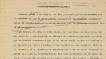 Un original de García Márquez a subasta la tienda de paco