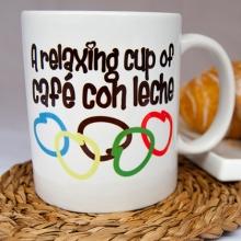 A relaxing cup of café con leche la tienda de paco