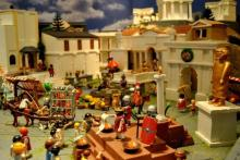 Diorama del belén de Tomares.